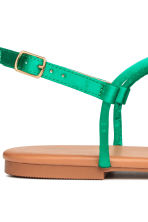 Toe-post sandals - Emerald green - Ladies | H&M 4