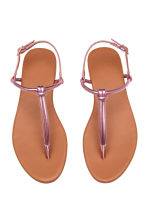 Toe-post sandals - Pink/Metallic - Ladies | H&M 2
