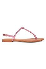 Toe-post sandals - Pink/Metallic - Ladies | H&M 1