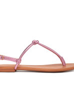 Toe-post sandals - Pink/Metallic - Ladies | H&M 4