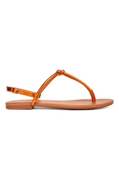Toe-post sandals - Orange/Metallic - Ladies | H&M CA