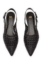 Braided slingbacks - Black - Ladies | H&M CN 3