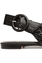 Braided slingbacks - Black - Ladies | H&M CN 5