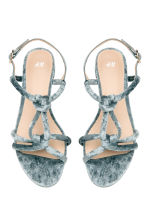 Velour sandals - Dusky green - Ladies | H&M CN 2