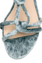 Velour sandals - Dusky green - Ladies | H&M CN 3
