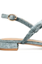 Velour sandals - Dusky green - Ladies | H&M CN 4