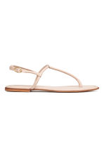 Leather toe-post sandals - Powder - Ladies | H&M 2