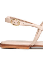 Leather toe-post sandals - Powder - Ladies | H&M 5