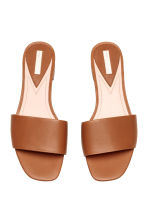 Leather slides - Cognac brown - Ladies | H&M CA 3
