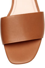 Leather slides - Cognac brown - Ladies | H&M CA 4