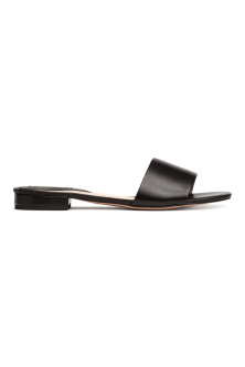 Leather slides