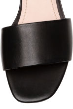 Leather slides - Black - Ladies | H&M 4