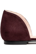 Pointed flats with a bow - Plum - Ladies | H&M 4