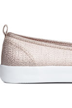 Slip-on trainers - Light beige/Glittery - Ladies | H&M CA 4