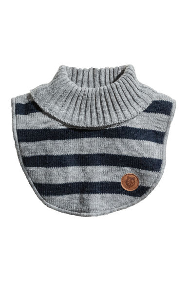 Knitted polo-neck collar - Grey/Striped - Kids | H&M 1