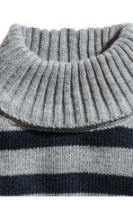 Knitted polo-neck collar - Grey/Striped - Kids | H&M 2