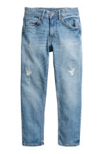Relaxed Tapered Worn Jeans - Denim blue - Kids | H&M CN 2