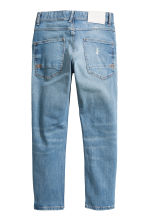 Relaxed Tapered Worn Jeans - Denim blue - Kids | H&M CN 3