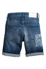 Short en jean avec impression - Bleu denim -  | H&M CH 3