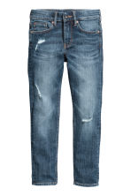 Skinny fit Worn Jeans - Dark denim blue -  | H&M CA 2