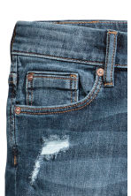 Skinny fit Worn Jeans - Dark denim blue -  | H&M CA 4