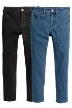 2件入 Skinny Fit Jeans - Denim blue/Black -  | H&M 2