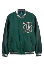 Giubbotto da baseball - Verde scuro -  | H&M IT 2