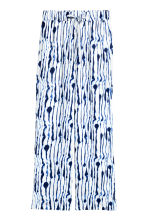 Wide trousers - White/Blue pattern - Ladies | H&M 2