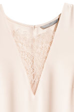 V-neck blouse with lace - Light beige - Ladies | H&M CN 3