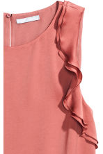 Sleeveless frilled top - Vintage pink - Ladies | H&M CN 3