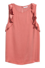 Sleeveless frilled top - Vintage pink - Ladies | H&M CN 2