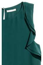 Sleeveless frilled top - Dark green - Ladies | H&M CA 3