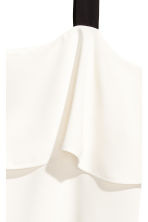 Flounced top - White/Black - Ladies | H&M CN 3