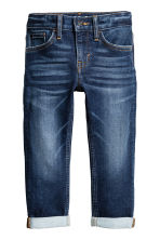 Super Soft Slim Fit Jeans - 深牛仔蓝 - Kids | H&M CN 2