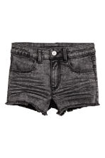 Generous fit Twill shorts - Black washed out - Kids | H&M CN 1