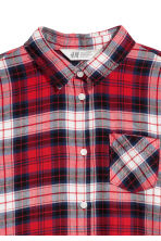 Generous fit Flannel shirt - Red/Checked - Kids | H&M CN 2