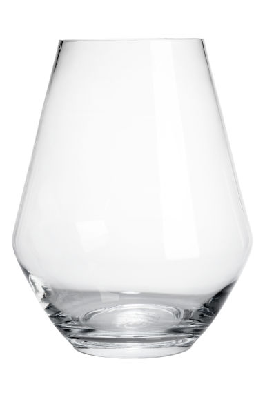 Large glass vase - Clear glass -  | H&M CN 1