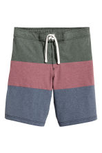 Knee-length swim shorts - Khaki green/Pink - Men | H&M CN 2