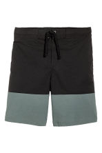 Knee-length swim shorts - Black/Green - Men | H&M 2