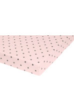 Star-print fitted sheet - Light pink -  | H&M CN 2
