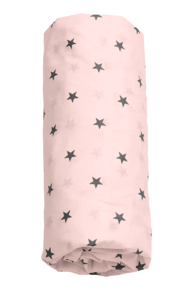 Star-print fitted sheet - Light pink - Home All | H&M CN 1