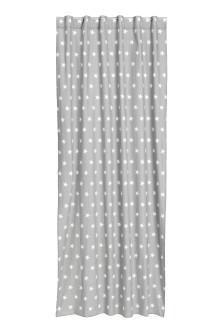 Star-print curtain length
