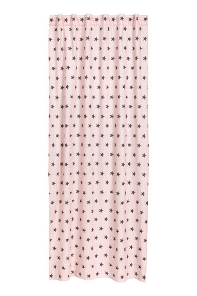 Star-print curtain length - Light pink - Home All | H&M CN 1