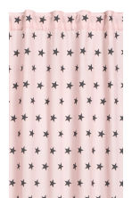 Star-print curtain length - Light pink - Home All | H&M CN 2