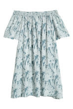 Silk-blend dress - Turquoise/Floral - Ladies | H&M 2