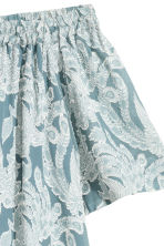 Silk-blend dress - Turquoise/Floral - Ladies | H&M 3