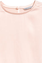 Short-sleeved silk blouse - Powder pink - Ladies | H&M CN 3