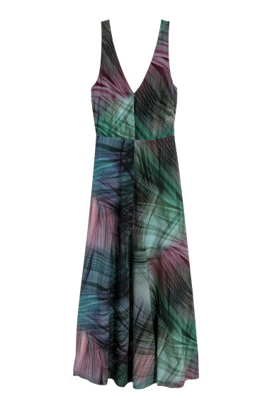 Long silk dress - Multicoloured - Ladies | H&M CN 1