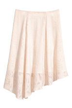 Silk-blend skirt - Powder -  | H&M CN 2