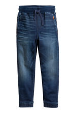 Super Soft denim joggers - Dark blue -  | H&M 2